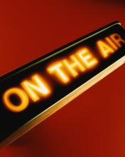 broadcast on-air lighted sign